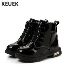 7727e1fdd5a52 Automne hiver mode enfants bottes enfants chaussures garçons filles en  peluche cheville neige bottes PU cuir