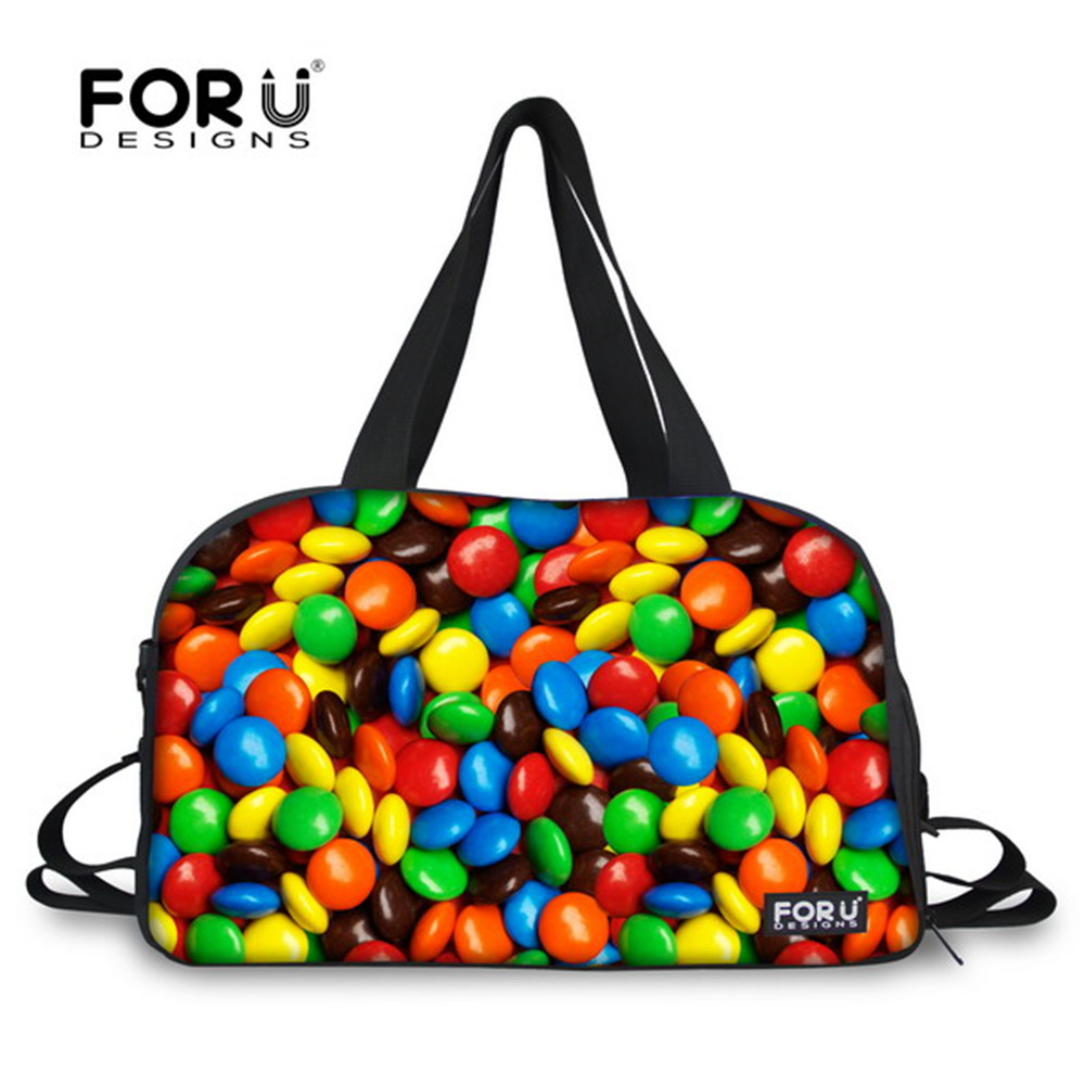 Security & Protection Forudesigns Waterproof Bag Sweet Candy Printing Canvas Tote Gym Bag Women Shoulder Bag Large Capacity Multifunctional Sport Bag