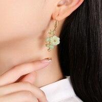 925 Silver Hook Hanging Earrings Bride Jewelry Gift Dangle Hook Long Earrings For Women