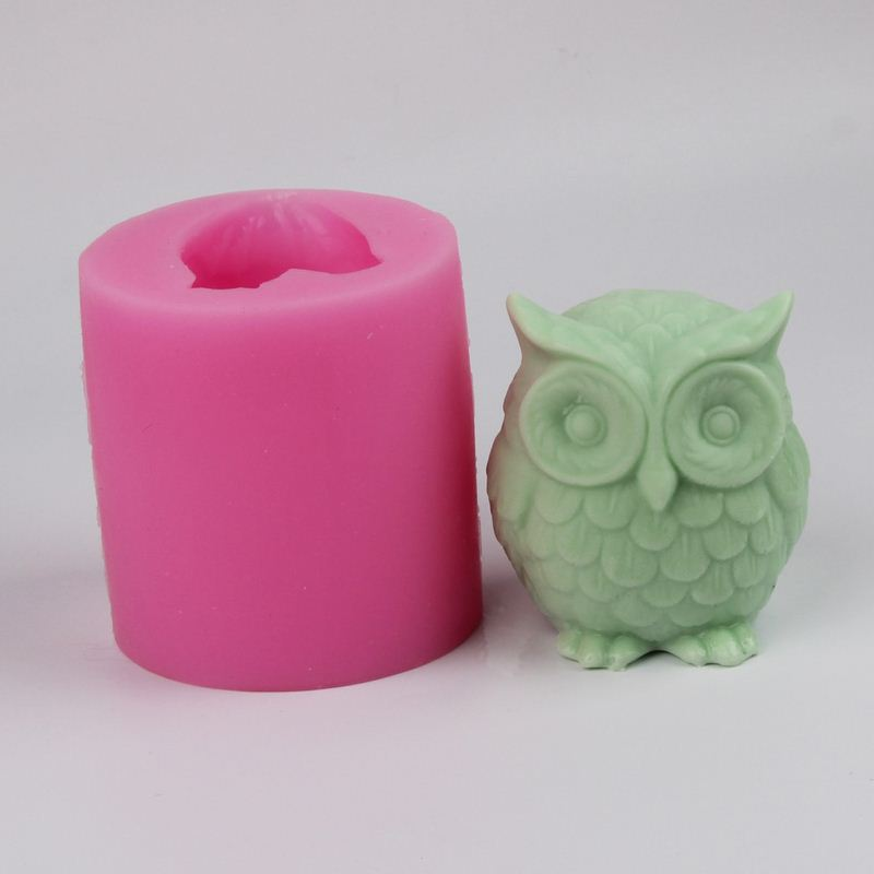 3D Owl Shape silicone soap mold Handmade Craft Soap Making Mould