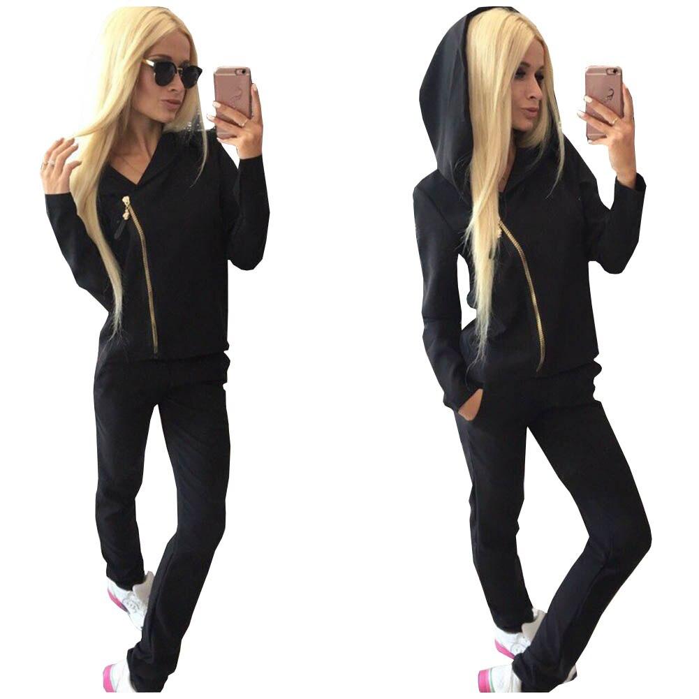 Hot Sale Women Sweatshirt+Pant Suit 2 Piece Set Suit For Women Autumn Pink Suit Sets