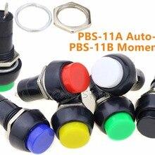 1 шт. PBS-11A PBS-11B кнопочный самоблокирующийся кнопочный переключатель зеленый/красный цвета Электрический переключатель для изготовления моделей DIY