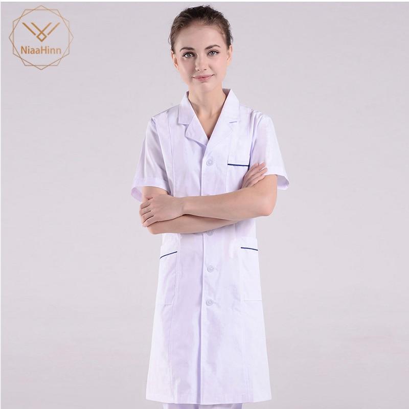 New Summer Women Hospital Medical Scrub Clothes Set Fashionable Design Slim Fit Dental Scrubs Beauty Salon Men Nurse Uniform