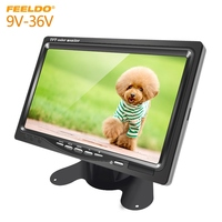 FEELDO DC9V 36V 7 Inch Color TFT LCD Rear View Monitor Headrest Stand alone Display For Auto DVD VCD Reversing Camera
