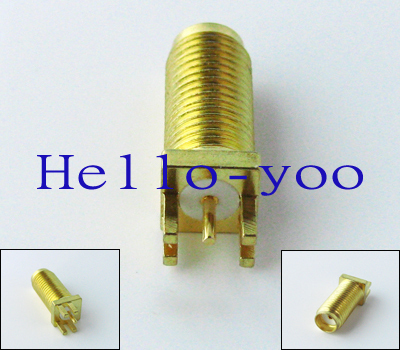Free shipping! SMA Female Jack Edge Mount PCB Receptacle Adapter goldplated Connector  New