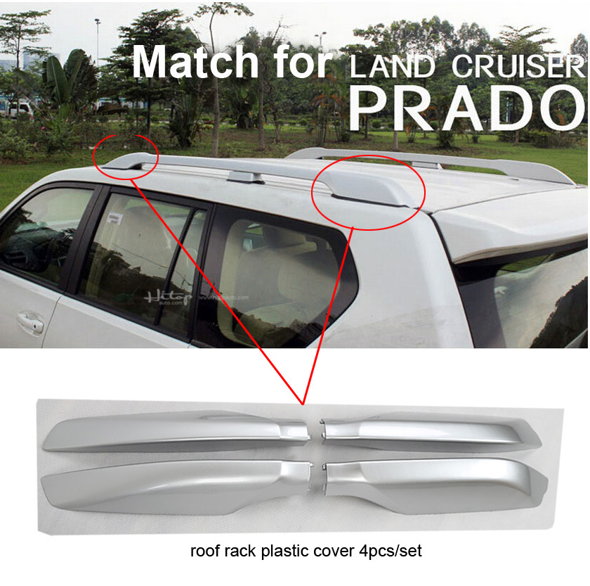 Image 2 - roof rack cover roof rail end for Toyota Land Cruiser PRADO 120 150 GRJ120 RZJ120 LC120 LC150 TRJ120 etc,good quality,2003 2018-in Nerf Bars & Running Boards from Automobiles & Motorcycles