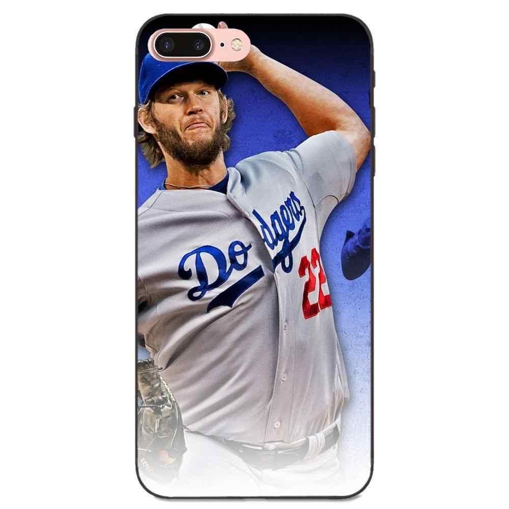 TPU โทรศัพท์มือถือกระเป๋า Clayton Kershaw เบสบอลสำหรับ Huawei Honor เพลิดเพลินไปกับ Mate หมายเหตุ 6 s 8 9 10 20 P20 p30 Lite เล่น Pro P