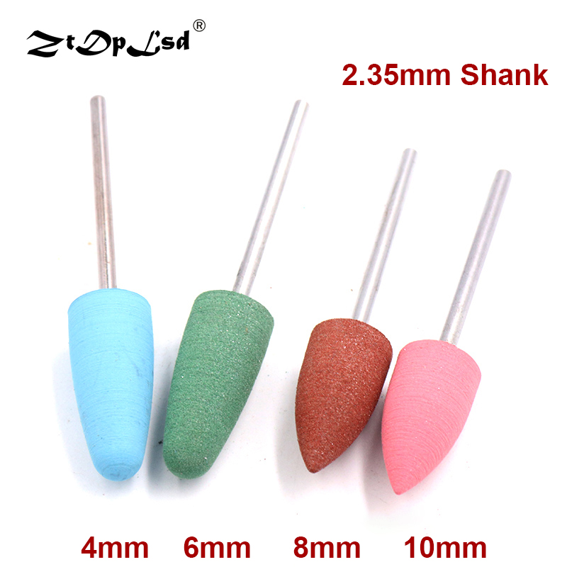 1 Pcs 2.35mm Shank Silicone Nail Art Polisher Grinding Heads Rubber Head Electric Drill Bits Machine Silicon Abrasive Tool