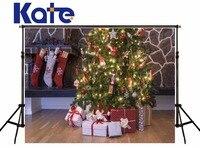 KATE Photo Background 10X10ft Christmas Backdrop Christmas Tree Backdrop Arbol De Navidad Madera Socks Decorations for Home