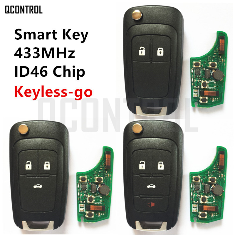 QCONTROL Car Smart Remote Key for Chevrolet 433MHz ID46 Chip Keyless go Comfort access-in Car Key from Automobiles & Motorcycles