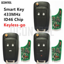 QCONTROL Car Smart Remote Key for Chevrolet 433MHz ID46 Chip Keyless go Comfort access