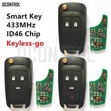 Chave remota smart qcontrol, funciona com chip chevrolet 433mhz id46, sem chave, confortável