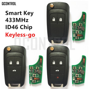 Image 1 - QCONTROL Car Smart Remote Key for Chevrolet 433MHz ID46 Chip Keyless go Comfort access