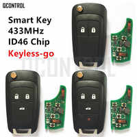 QCONTROL Car Smart Remote Key for Chevrolet 433MHz ID46 Chip Keyless-go Comfort-access