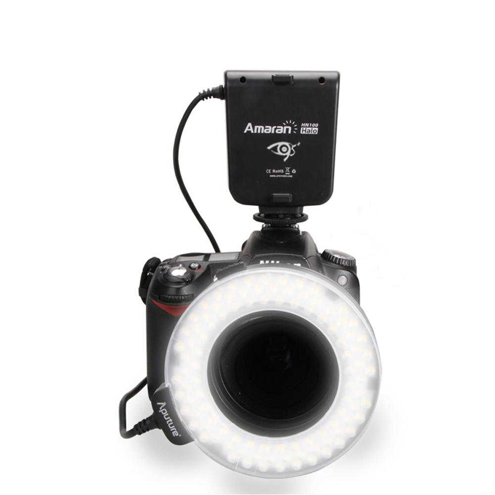 Новый hn100 CRI 95 + Amaran Halo LED кольцо света Вспышка для Nikon D7100 D7000 D5200 D5100 D800E D800 D700 d600 D90 Камера