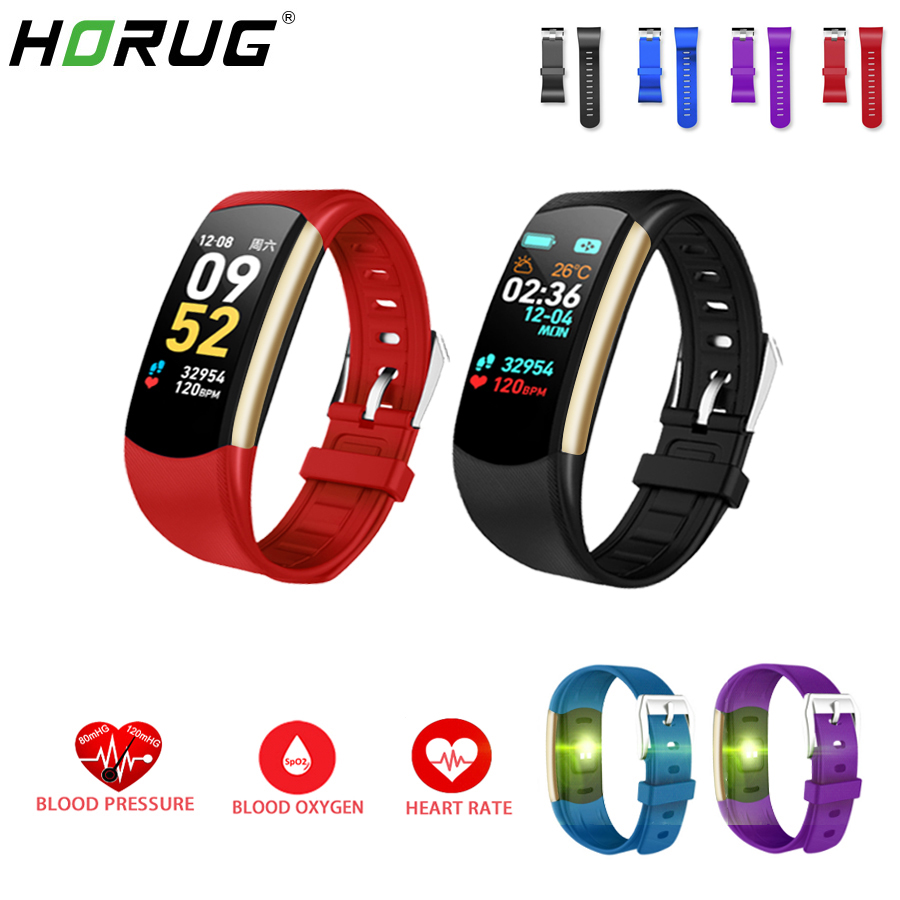 HORUG Smart Wristband Fitness Bracelet Fitness Tracker Smart Bracelet Activity Blood Pressure Pedometer Sport Heart Rate Monitor-in Smart Wristbands from Consumer Electronics