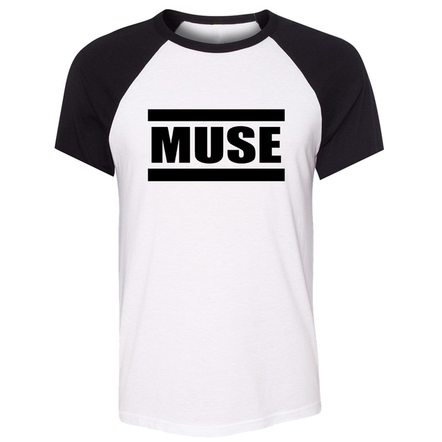 iDzn Unisex Summer T-shirt MUSE THE 2ND LAW Packshot Rock Band Art pattern design Raglan Short Sleeve Men T shirt print Tee Tops