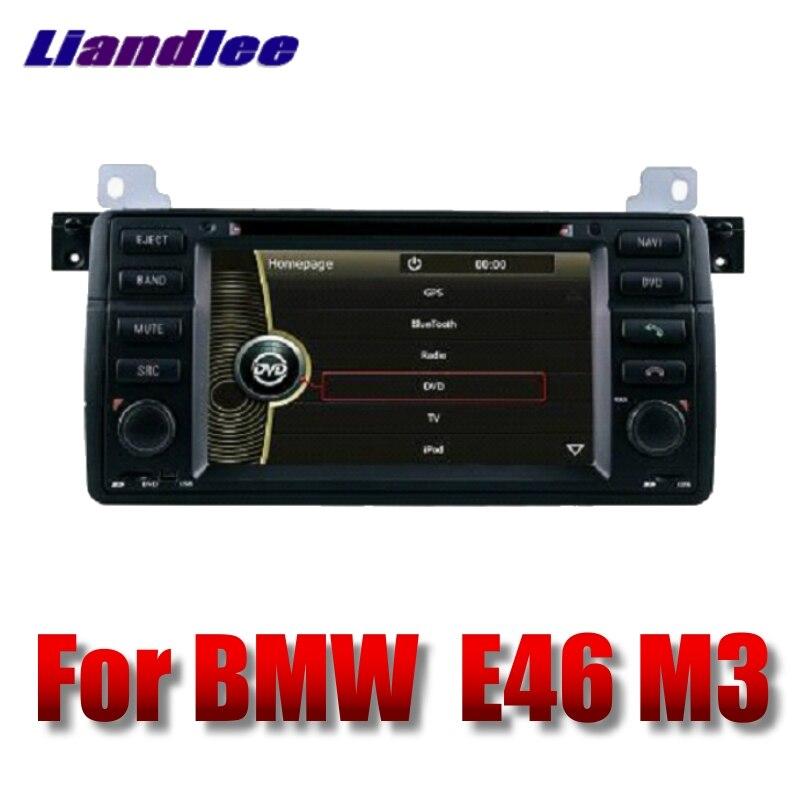 Lecteur multimédia de voiture Liandlee NAVI pour BMW série 3 E46 M3 1997 ~ 2006 avec DVD BT autoradio stéréo GPS Navigation écran tactile