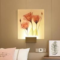 Led Bedroom Bedside Wall Lamp Modern Acrylic Lights For Bathroom Loft Appliques Luminaires Murales Lighting