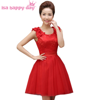 girls beautiful 2019 short lace pretty homecoming tulle semi formal peplum dresses junior cute red dress ball gown H2718