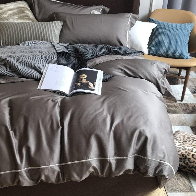 Северной Европы четырех частей одеяла из чисто американский хлопок сатин Постельное белье Роскошные кашне Постельное белье s постельное бе