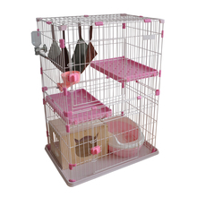 High-end pet cat cage double triple four large cats Home