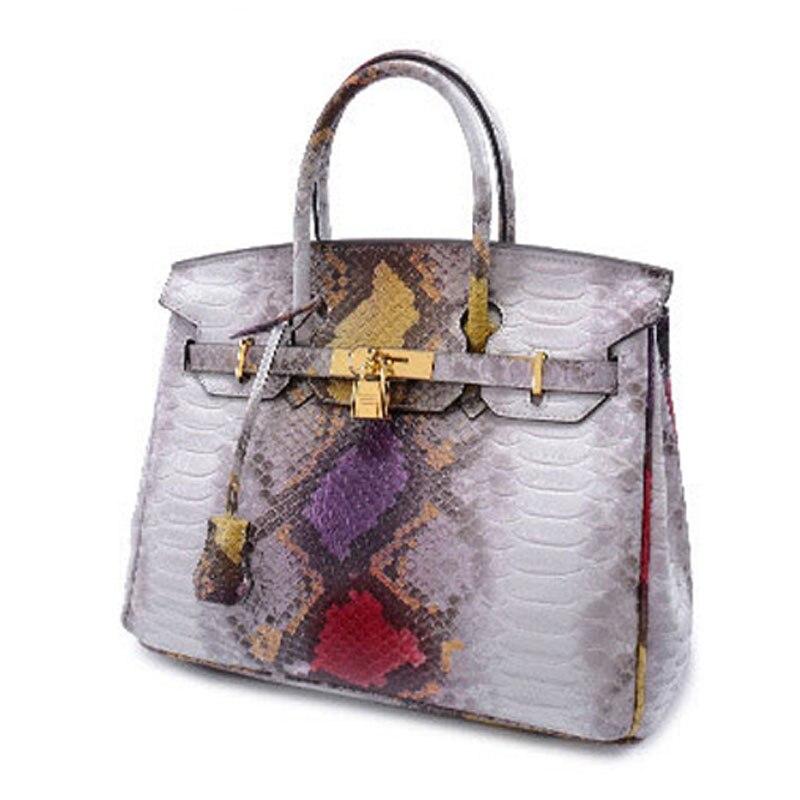 Women Genuine leather font b Handbag b font women bag Serpentine shoulder bag for girl Messenger