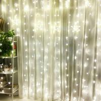 3m X 2m 240 LED Icicle Fairy String Curtain Light For Home Garden Christmas Halloween Holiday