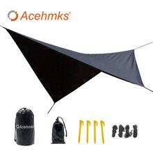 Hamaca impermeable, lona, Mosca de lluvia, 11*10 pies, tienda de camping al aire libre, refugio solar para camping, hamaca, muebles de exterior Acehmks