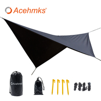 Waterproof hammock tarp rain fly 11*10 feet outdoor camping tent sun shelter for camping hammock outdoor furniture Acehmks