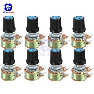 5 PCS/Lot Potentiometer Resistor 1K 2K 5K 10K 20K 50K 100K 500K Ohm 6 Pin Linear Taper Rotary Potentiometer for Arduino with Cap(China)