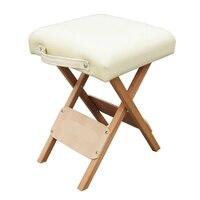 Складной Деревянный простой табурет Портативный косметологии место бытовой мягкий маленький стул Открытый Отдых стула фиксированным техн