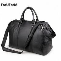 Vintage Genuine Leather Travel Bag Men Duffel Bag Luggage Travel Bag Large Men Leather Duffle Bag