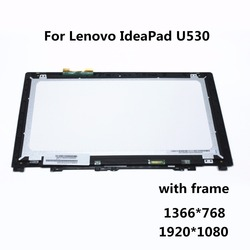 15 6 laptop lcd assembly with frame for lenovo ideapad u530 lcd display touch screen digitizer.jpg 250x250