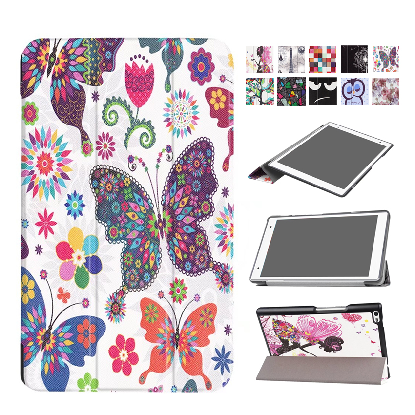 For Lenovo Tab4 8 8.0'' PU Leather Case Cover Protective Stand Skin for Lenovo TAB 4 8 TB-8504F TB-8504N Smart Tablet PC Fundas 2017 new for lenovo tab2 a8 pu leather stand protective skin case for lenovo 8 inch tab 2 a8 50 a8 50f tablets cover film pen