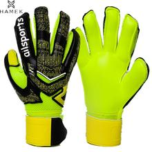 2017 New Goalie Soccer Gloves Full Latex Mesh Men Goalkeeper Gloves Kids Football Goal Keeper 4mm Thicken Finger Save Protection(China)
