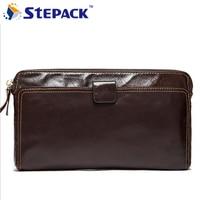 Famous Brand Casual Men Wallet Genuine Leather Wallet Money Clip Purse Men Purse Large Capacity Purse Clutch Wallet WMB0138