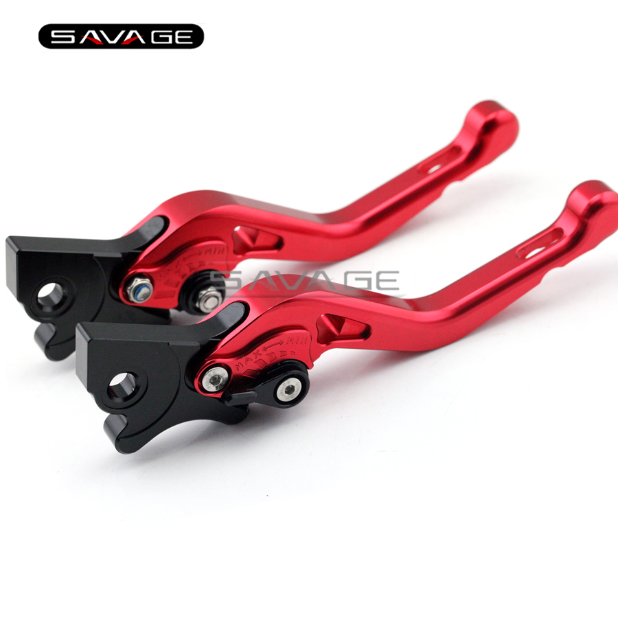 цена на For Vespa 125 Granturismo/GTS125/S125/S150 4-stroke Red Motorcycle Billet Aluminum Adjustable Short Left Right Brake Levers