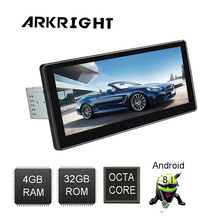 ARKRIGHT 10.25'' 1Din 4+32GB Android 8.1 Head Unit Octa Core Audio Stereo car Radio Universal Multimedia Player Built-in DSP 7double 2 din head unit android 8 1 universal car radio stereo multimedia no dvd music player built in dsp carplay android auto