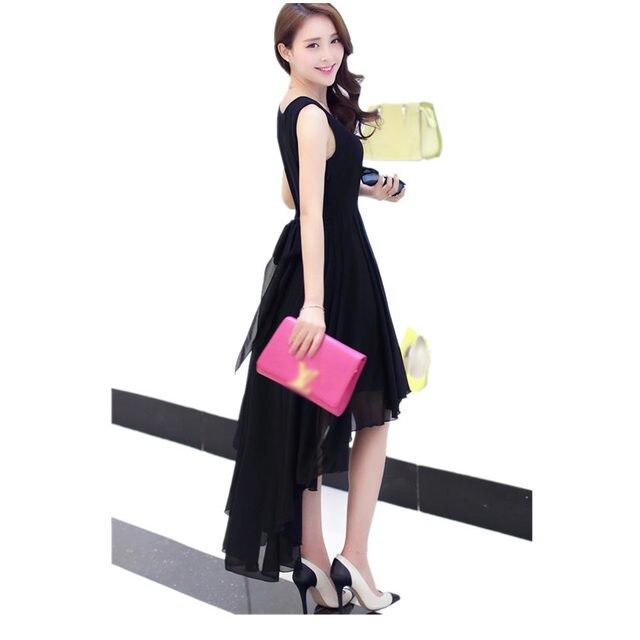 Hot Bohemia Style Women's Asymmetric Sleeveless long Dresses Casual Dress Vestidos Femininos For Elegant Women longo D56204
