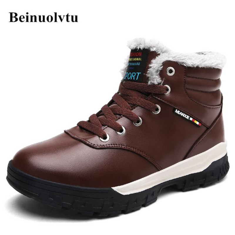 Winter Men Sneakers for men Running Shoes Platform Trainers font b Snow b font Men font