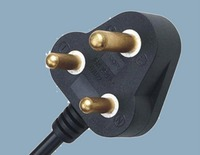 SABS plug European standard VDE computer electrical power cord plug electronic line Y4