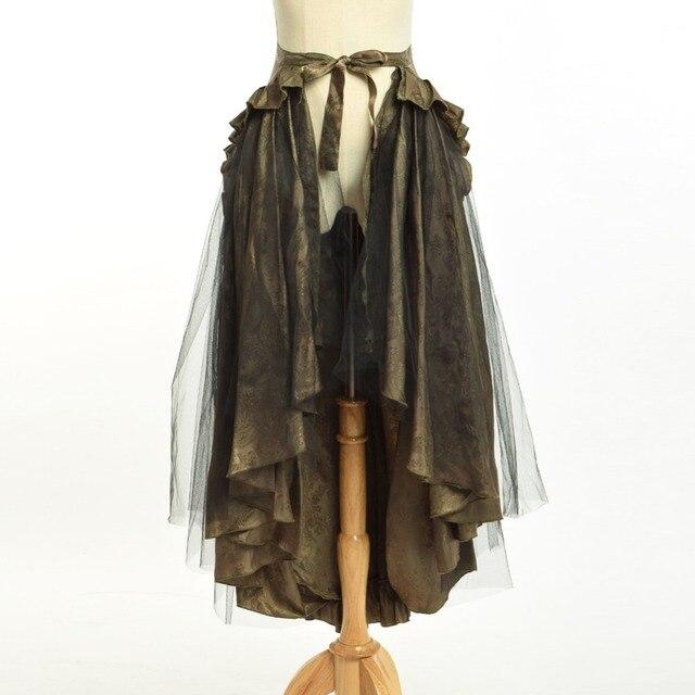 1 шт женщин стимпанк викторианской гот Шартрез метаться суеты саронг юбки (может быть носили как мыс верхней)