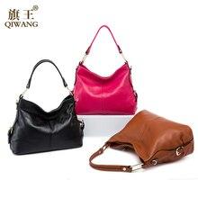 100% Genuine Leather Bag Brand Designer Cowhide Handbags 2016 New HOBO Purse Fasion Lady Pink Handbag High Quality