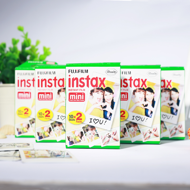 100 sheet Fujifilm Fuji Instax Mini 8 film for Fujifilm Instant Mini 7s 25 50s 90 Camera Fuji Instax White Edge Photo film Paper