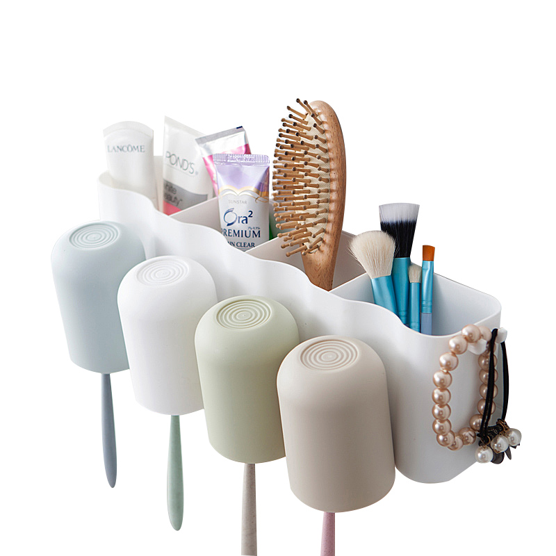 Mouthwash Cup Toothbrush Storage Holders Racks Bathroom Cosmetic Organizer Wall Shelves Home Organization Accessories Supplies