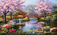 Round Diy Diamond Drawing Landscape Diamond Painting Cross Stitch Crystal Round Diamond Sets Decorative Full Diamond