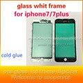 10 pçs/lote para whit iphone7 7 plus 4.7 5.5 vidro da tela lcd do quadro frame casa selo cola fria up suporte lcd vidro