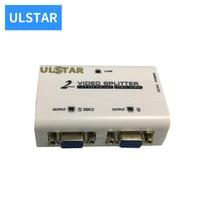 ULSTAR VGA Splitter 1 In 2 Out VGA Distributor 2 Port VGA splitter Box 1 In 2 Out For LCD PC TV Monitor