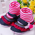 0-2 year old baby girl first walk shoe jean style girl baby shoe infant first walk 415